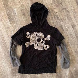 Boys Gymboree Halloween hooded shirt 5